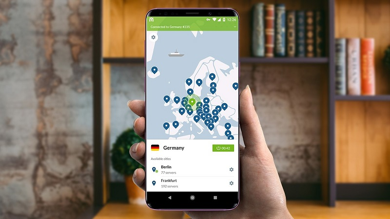 NordVPN on Android device