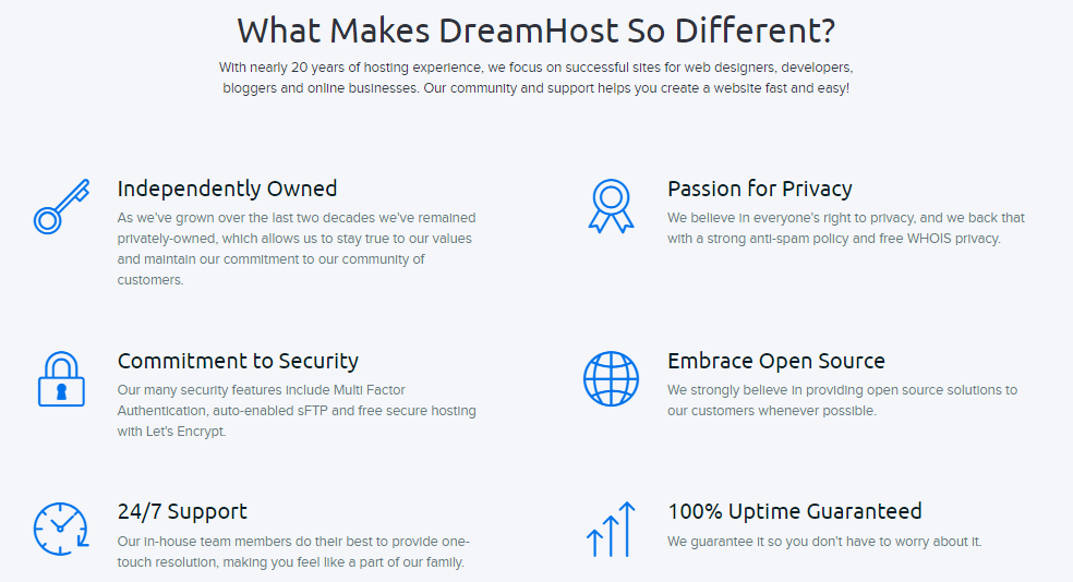DreamHost features. Dreamhost Vs Bluehost Vs Hawk Host: Which One Is Better?