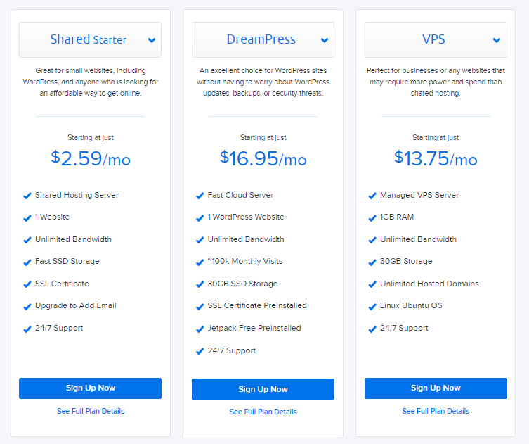 DreamHost pricing. Dreamhost Vs Bluehost Vs Hawk Host: Which One Is Better?
