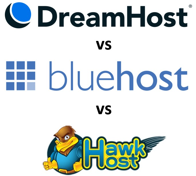 Comparison of hosting service providers. Dreamhost Vs Bluehost Vs Hawk Host: Which One Is Better?