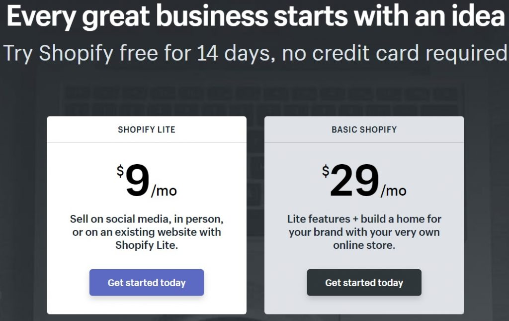 Shopify pricing options. Shopify Or Wix: Which Is A Better Platform?