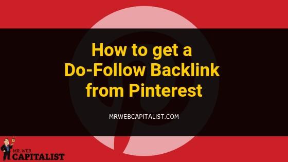 dofollow backlink from pinterest
